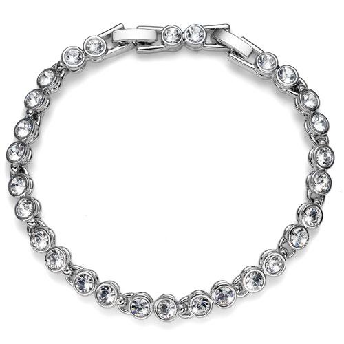 Náramek s krystaly Swarovski Oliver Weber Tenis 32034-001