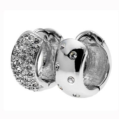Náušnice s krystaly Swarovski Oliver Weber Double XL 22155R