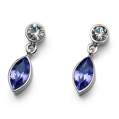 Náušnice s krystaly Swarovski Oliver Weber Sort 22172-539