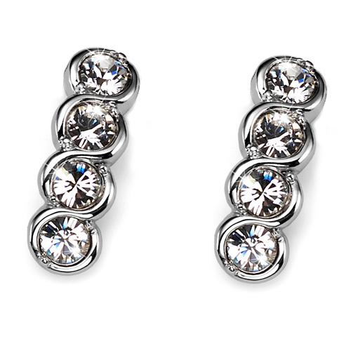 Náušnice s krystaly Swarovski Oliver Weber Four Crystal