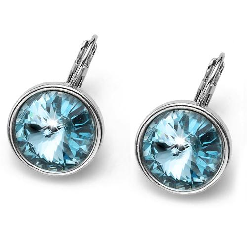 Náušnice s krystaly Swarovski Oliver Weber Fun Turquoise