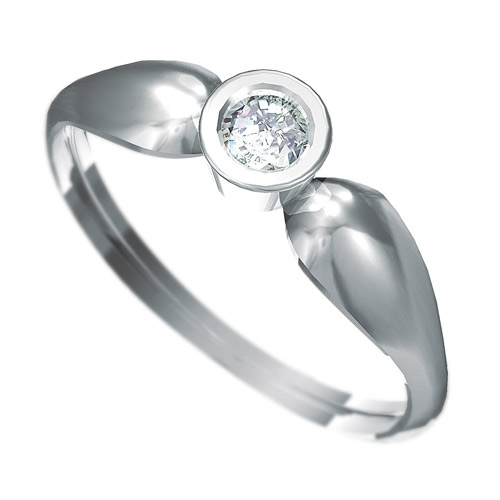 Zásnubní prsten s briliantem Dianka 806