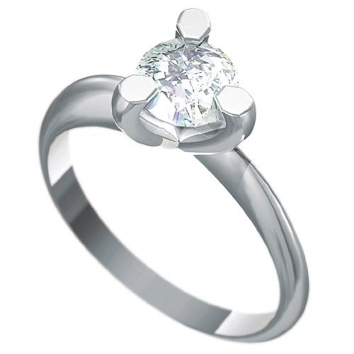 Zásnubní prsten s briliantem Dianka 817