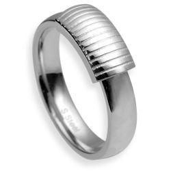 Prsten z chirurgické oceli RSS484