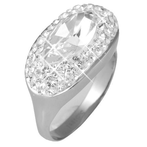 Prsten s krystaly Swarovski RSSW13-CZ