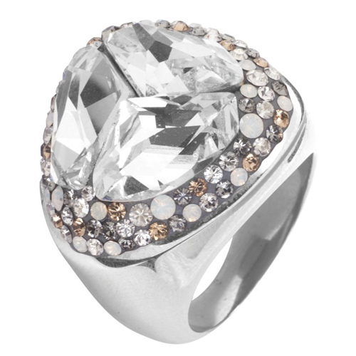 Prsten s krystaly Swarovski RSSW14CZ