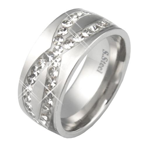 Prsten s krystaly Swarovski RSSW15-CZ