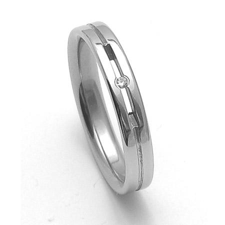 Dámský ocelový snubní prsten RZ04026