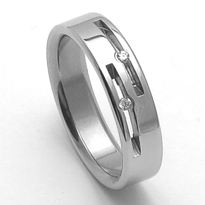 Dámský ocelový snubní prsten RZ05015