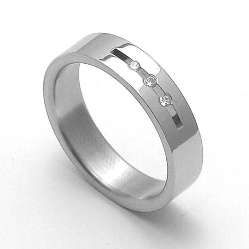 Dámský ocelový snubní prsten RZ06010