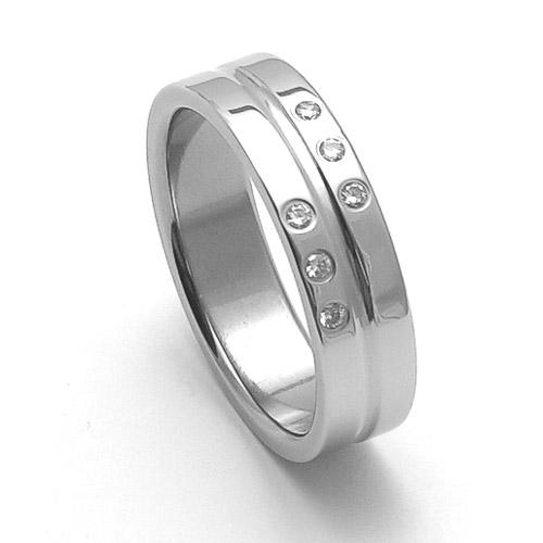 Dámský ocelový snubní prsten RZ06118