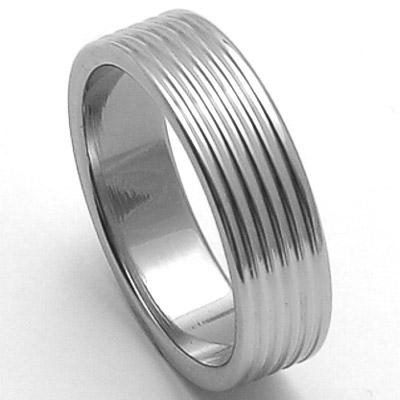 Pánský ocelový snubní prsten RZ06800