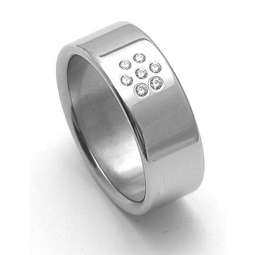 Dámský ocelový snubní prsten RZ08002