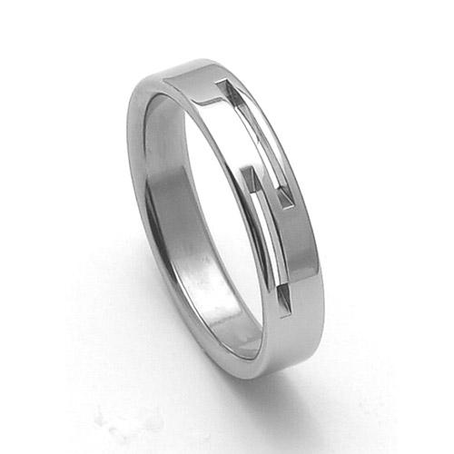 Pánský ocelový snubní prsten RZ85015