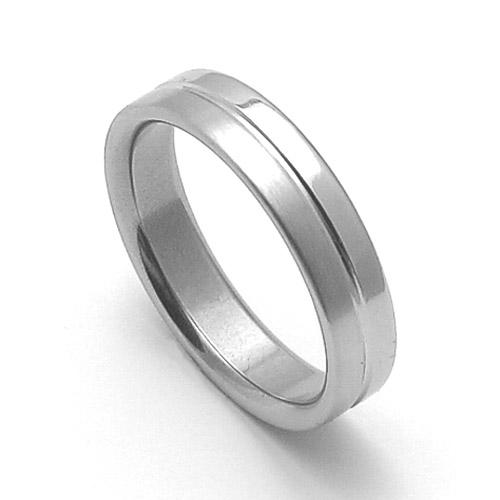 Ocelový snubní prsten RZ85118
