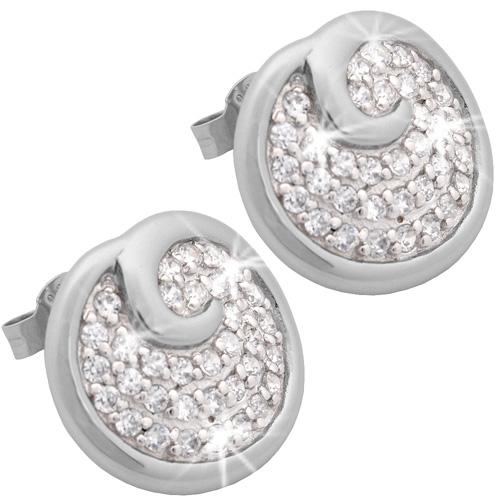 Stříbrné náušnice Chiara Circle SCDK2-E15
