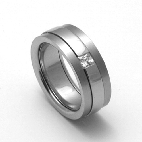 Dámský titanový snubní prsten TTN2202