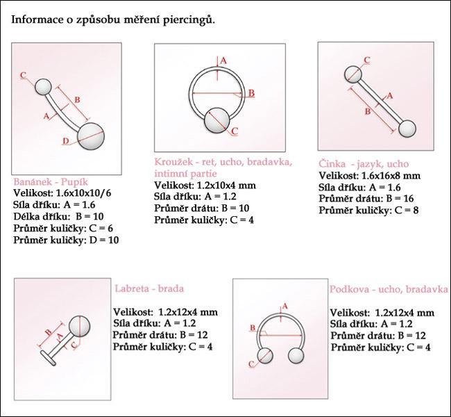 Jak měřit piercing.