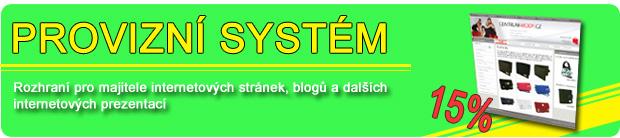 Provizní systém pro majitele webových stránek